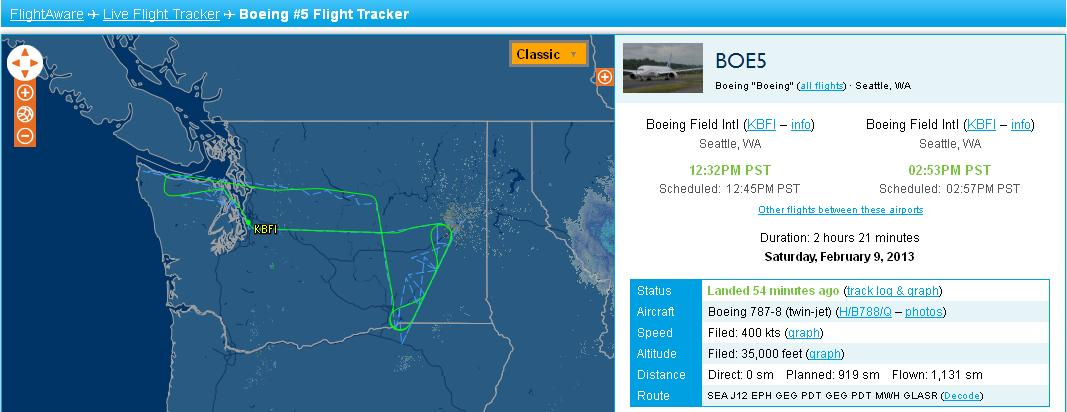 787 test flight