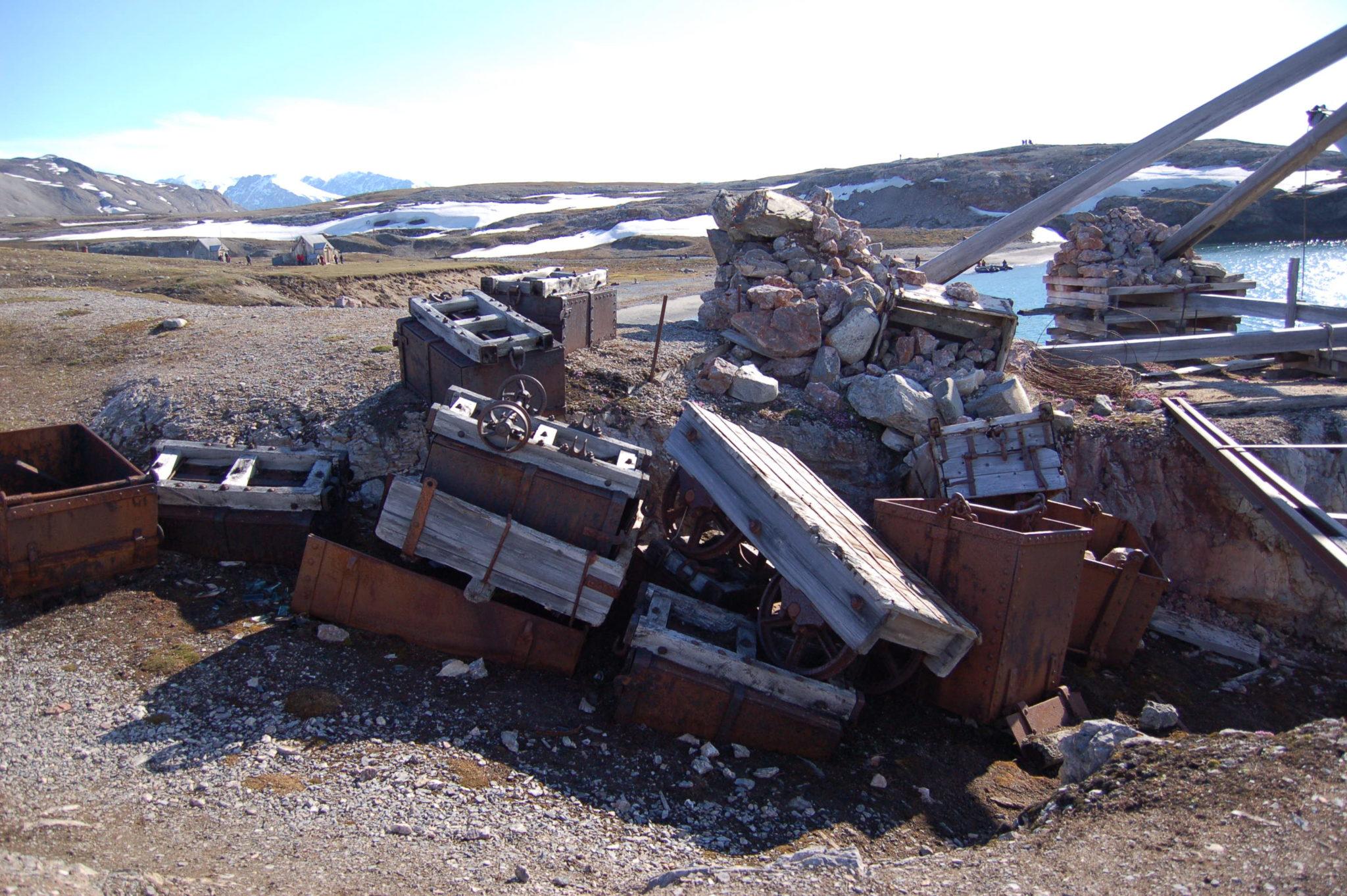 Derelict mining equipment, Svalbard