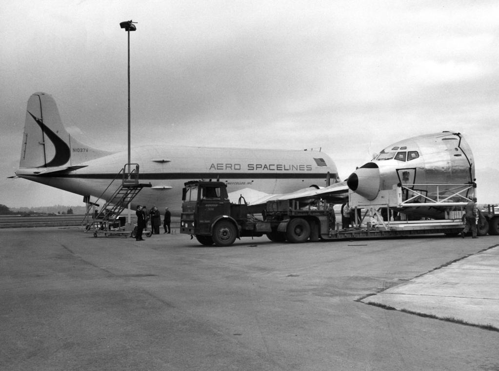 TWA 707-331B nose repl SEA 9-69