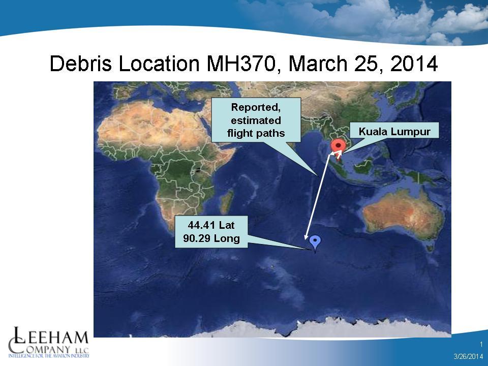 Debris Field MH370 032614