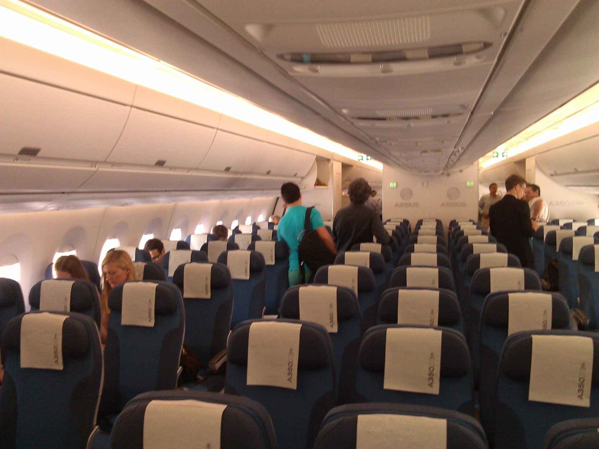 A350 Coach Cabin, seats and galleys by B/E Aerospace.