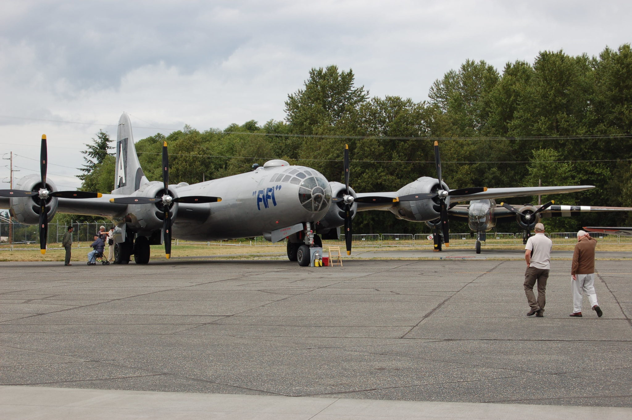 The Commemorative Air Force Boeing B-29, the only airworthy example. Shown at the Historic Flight Foundation, July 2014. Photo by Scott Hamilton