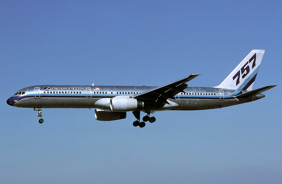 Figure 1. Boeing 757-200 of launch customer Eastern Airlines.