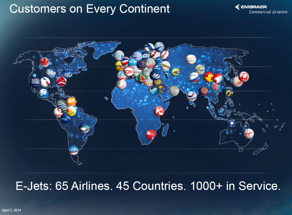 Customers on all continents