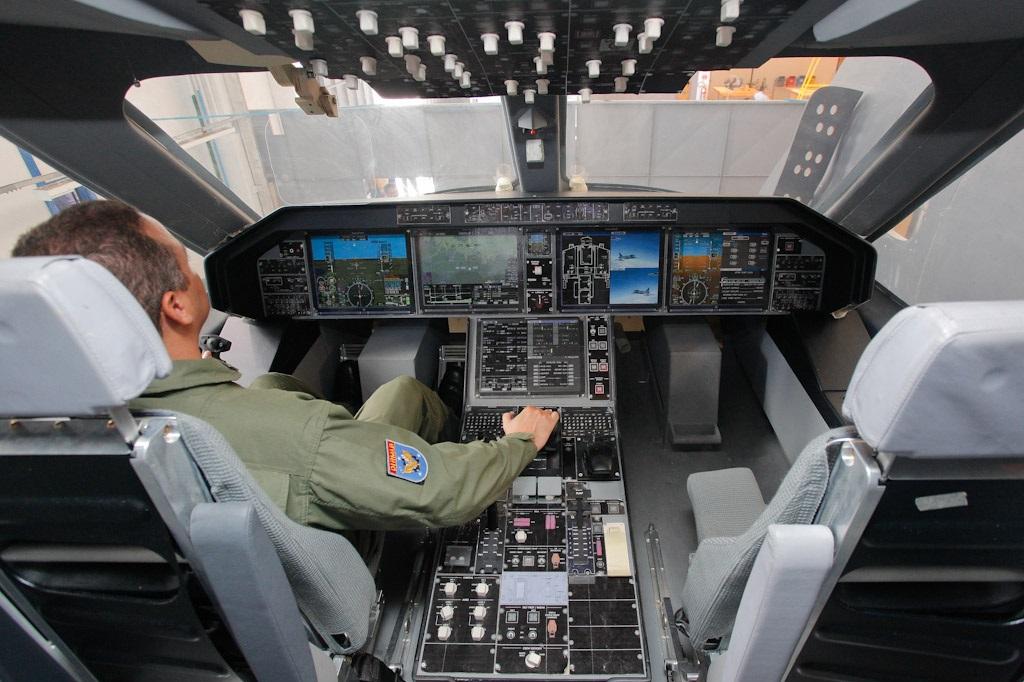 KC390 cockpit mockup. Source: Embraer