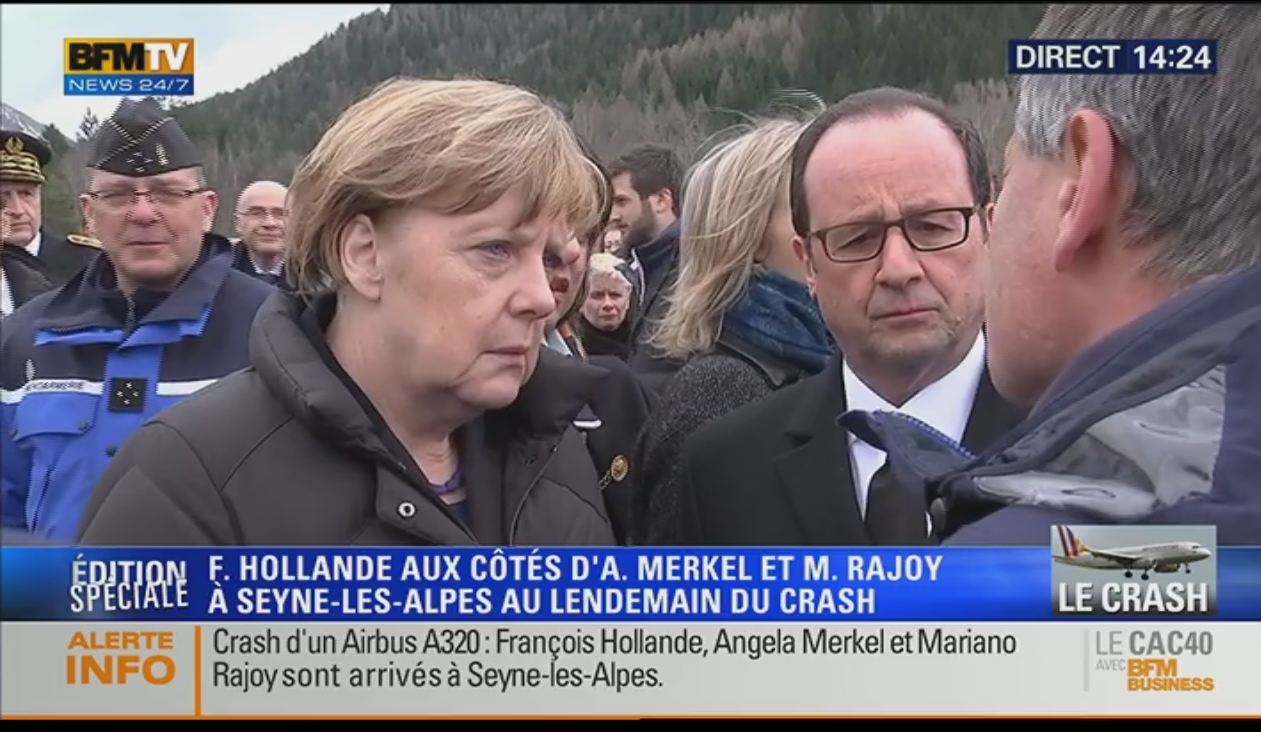 Holland, Merkel and Rajoy questioning at Seyne