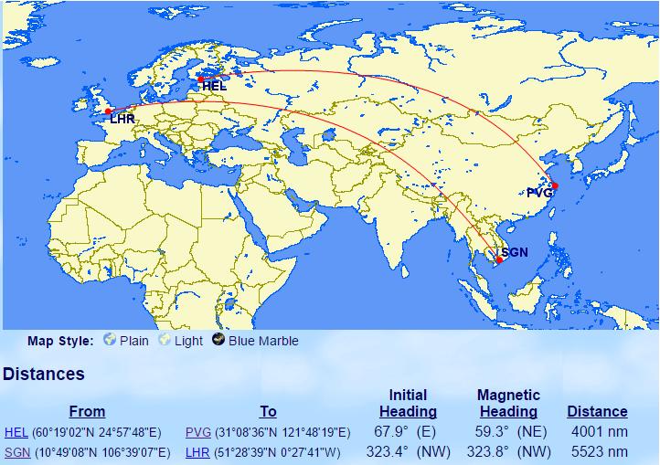 A350 vs 777-200ER, 340 routes