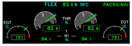 Engine displays