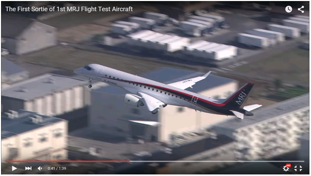MRJ first flight
