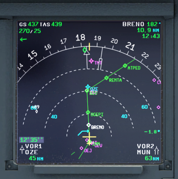 After takeoff and just reached cruise FL 22.34.24