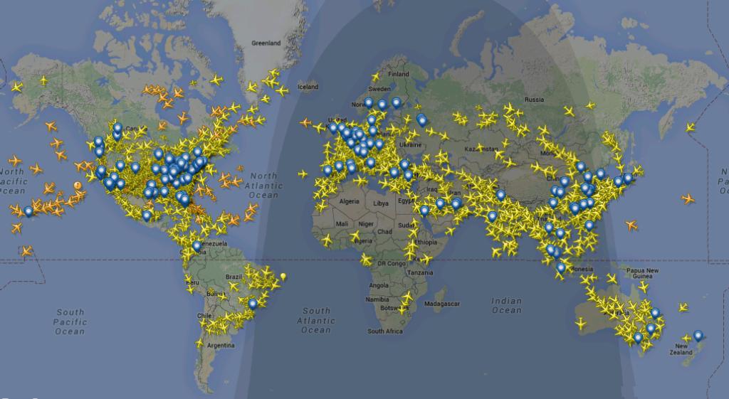 World trafic map