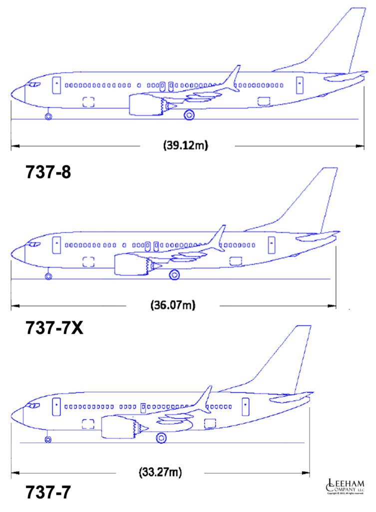 737-8,-7,-7X side view