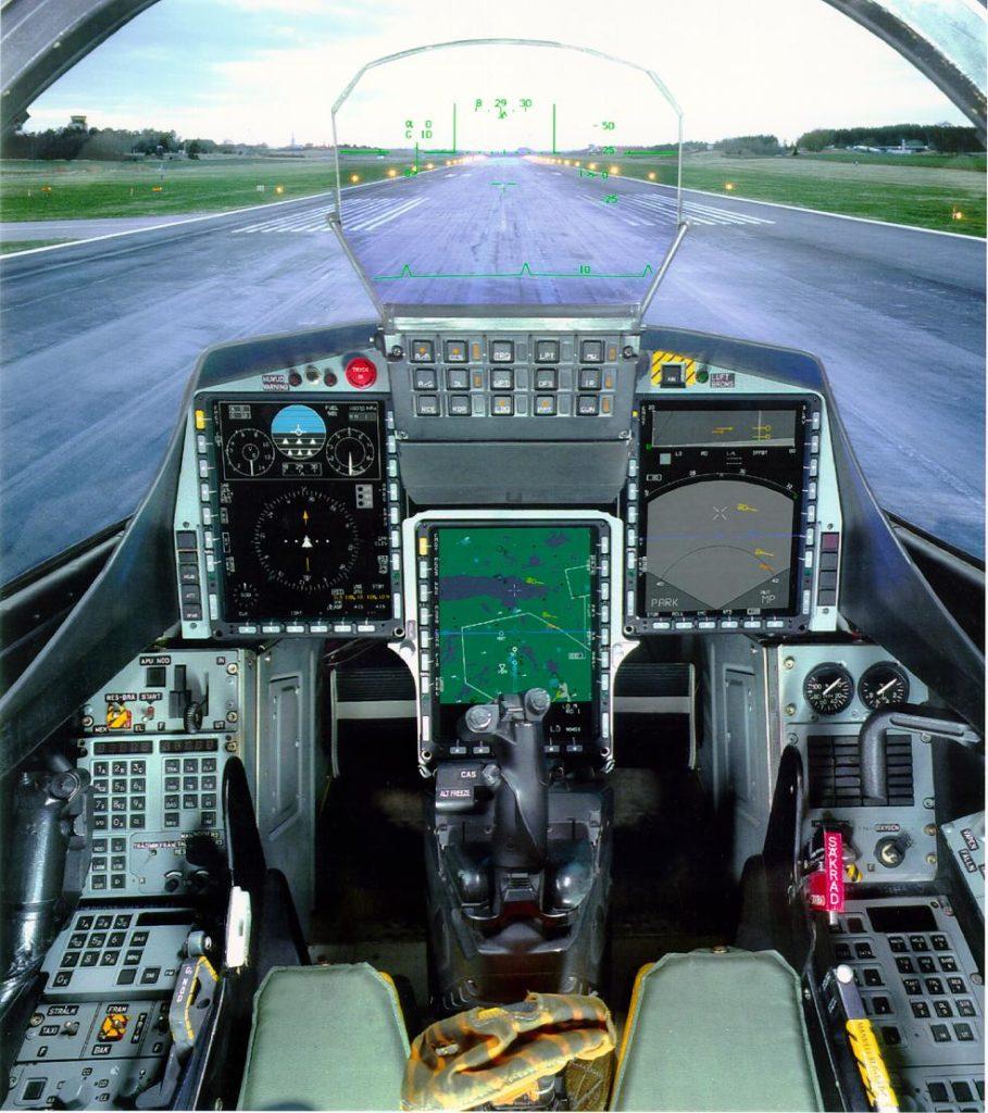 Gripen C cockpit