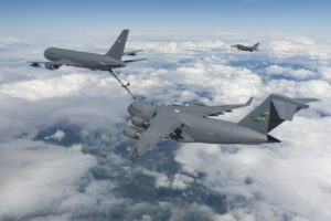 Boeing Flight Test & Evaluation - Boeing Field - KC-46, VH002, EMD 4, Test 003-05, KC-46 fuel offload to C-17, Milestone C