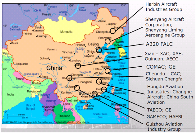 china-aircraft-companies-map
