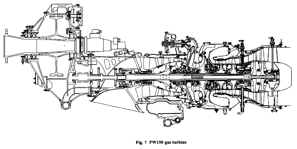 PW 150 turboprop of 3800kW with 17.97 OPR