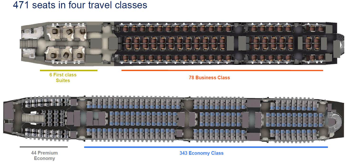 Singapore Airline\'s new A380s feature improved cabins ...