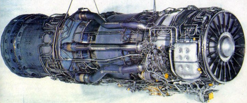 J58 with bleed pipes leading to afterburner.